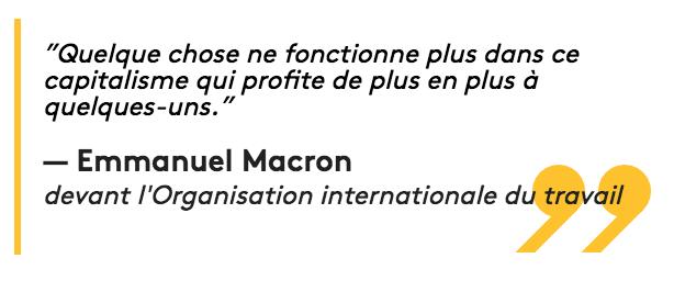 """Quelques contributions de Macron au """"capitalisme qui profite de plus en plus à quelques uns"""""""