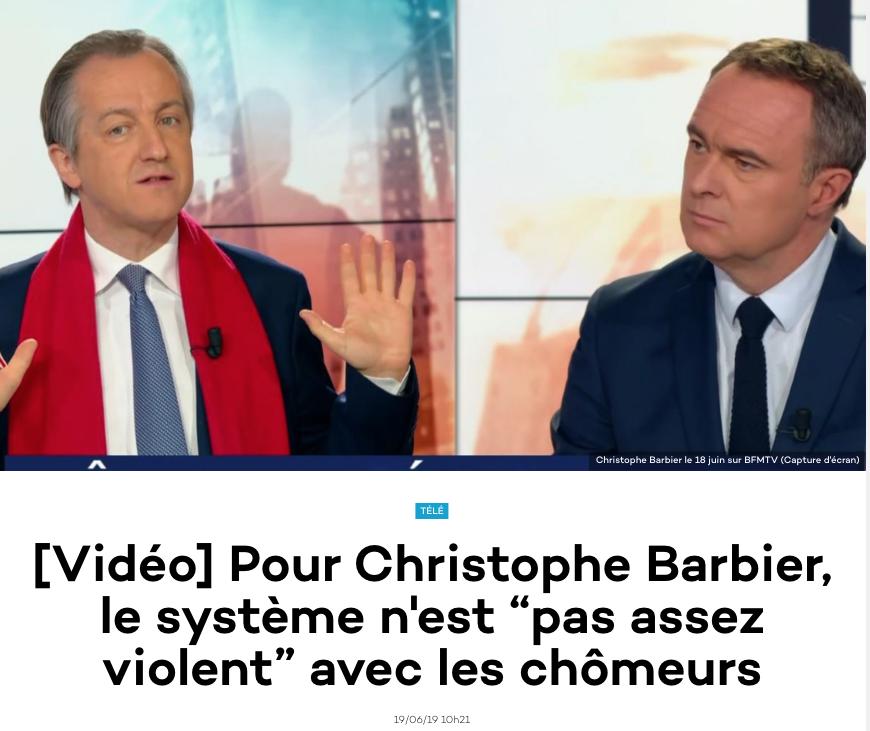 On n'est pas assez violent avec les gens comme Christophe Barbier