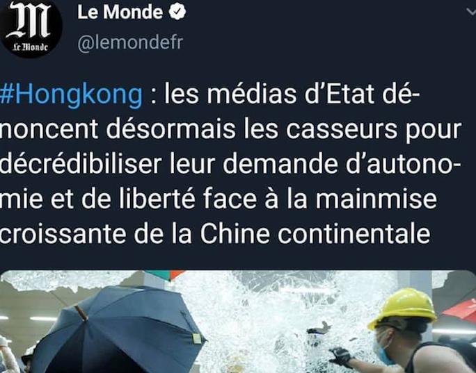 Les manipulations médiatiques pour décrédibiliser les manifestants c'est toujours ailleurs, jamais en France