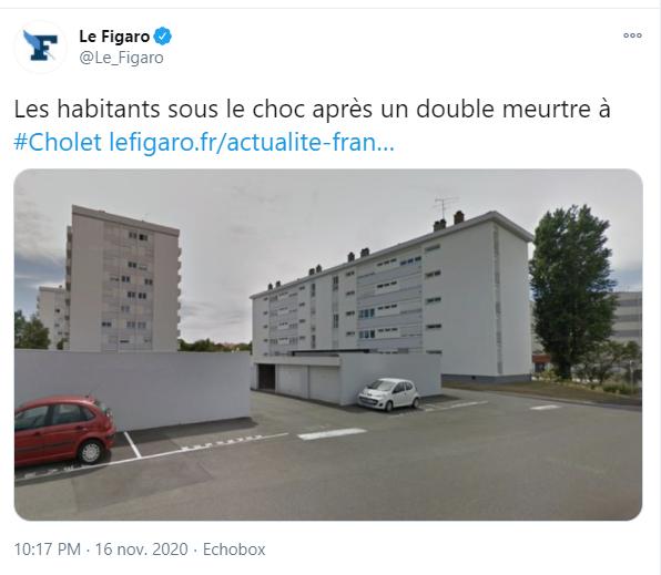 Le Figaro est allé à Cholet pour interroger les voisins, mais ne parle pas d'attentat